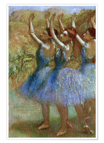 Premium poster Three dancers in blue