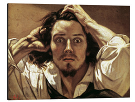 Aluminium print  The Desperate, Gustave Courbet - Gustave Courbet