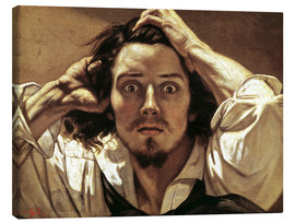Canvas  The Desperate, Gustave Courbet - Gustave Courbet