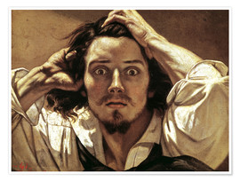 Premium poster The Desperate, Gustave Courbet