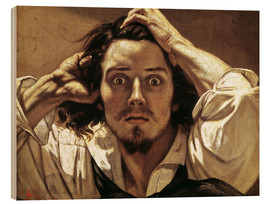 Wood print  The Desperate, Gustave Courbet - Gustave Courbet