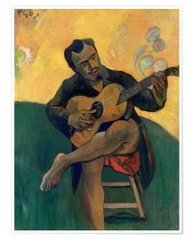 Premium poster  The Guitar Player - Paul Gauguin
