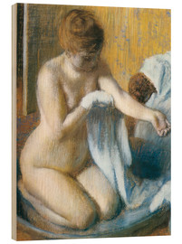 Wood print  Woman in a Tub - Edgar Degas