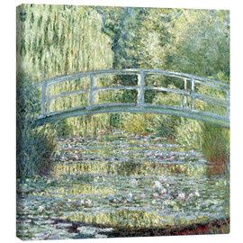 Canvas  water lily pond symphony in green - Claude Monet