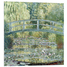 Foam board print  Water lily pond in green - Claude Monet