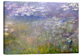 Canvas  Waterlily Pond - Claude Monet