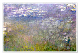 Premium poster  Waterlily pond - Claude Monet