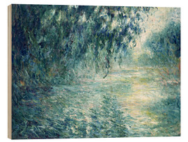 Wood  Morning on the Seine - Claude Monet