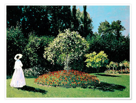 Poster Woman in a Garden