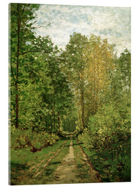 Acrylic glass  Forest path - Claude Monet