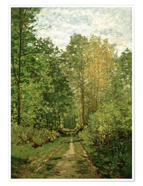 Premium poster  Forest path - Claude Monet