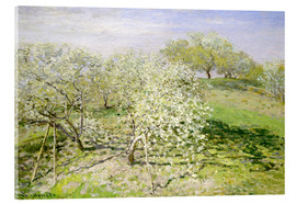 Acrylic glass  Spring, flowering apple trees - Claude Monet
