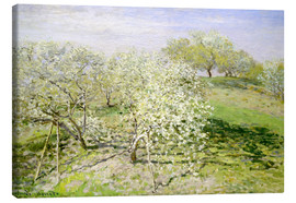 Canvas  Spring, flowering apple trees - Claude Monet