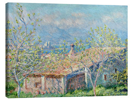 Canvas  House between the houses - Claude Monet
