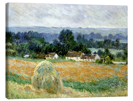 Canvas  Grain Stacks at Giverny - Claude Monet