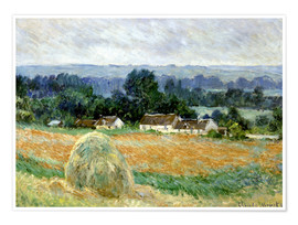Premium poster  Grain Stacks at Giverny - Claude Monet
