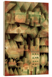 Wood print  Dream City - Paul Klee