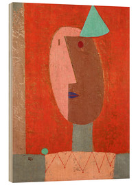 Wood print  Clown - Paul Klee