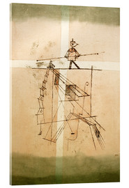 Acrylic glass  Tightrope walker - Paul Klee
