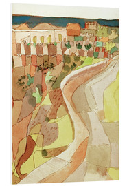 Foam board print  Road at Villa Mazzaro - Paul Klee