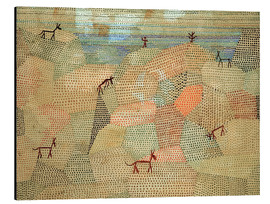Alu-Dibond  Landscape with Donkeys - Paul Klee