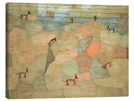 Canvas  Landscape with Donkeys - Paul Klee