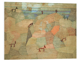 Foam board print  Landscape with Donkeys - Paul Klee