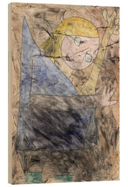 Wood print  Angel - Paul Klee