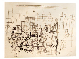 Acrylic glass  Crowd in the Harbour - Paul Klee