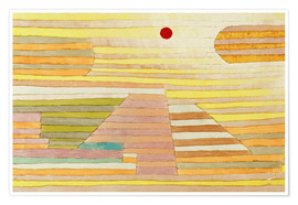 Premium poster  Evening in Egypt - Paul Klee