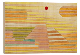 Wood print  Evening in Egypt - Paul Klee