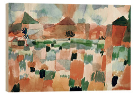 Wood print  St.Germain near Tunis - Paul Klee