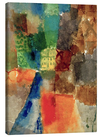 Canvas  The Yellow House - Paul Klee