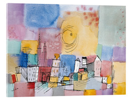 Acrylic print  German city - Paul Klee