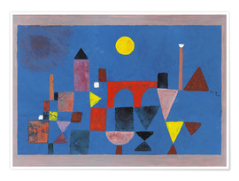 Premium poster  Red Bridge - Paul Klee