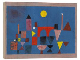 Wood print  Red Bridge - Paul Klee