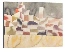 Aluminium print  Architecture in the Orient - Paul Klee