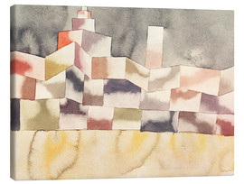 Canvas print  Architecture in the Orient - Paul Klee