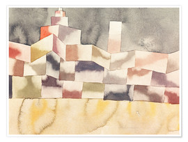 Premium poster  Architecture in the Orient - Paul Klee
