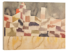 Wood print  Architecture in the Orient - Paul Klee