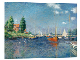 Acrylic print  Red boats at Argenteuil - Claude Monet