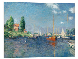Foam board print  Red boats at Argenteuil - Claude Monet