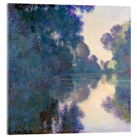 Acrylic glass  Morning on the Seine - Claude Monet