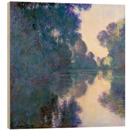 Wood print  Morning on the Seine - Claude Monet