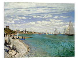 Foam board print  Regatta at Sainte-Adresse - Claude Monet