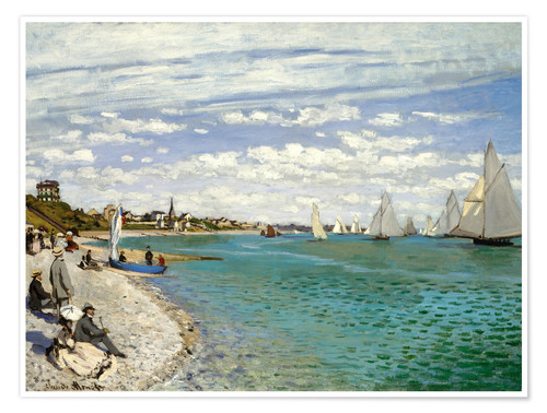 Premium poster Regatta at Sainte-Adresse