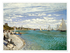 Poster  Regatta at Sainte-Adresse - Claude Monet