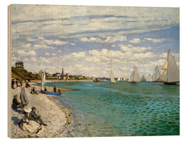 Wood print  Regatta at Sainte-Adresse - Claude Monet