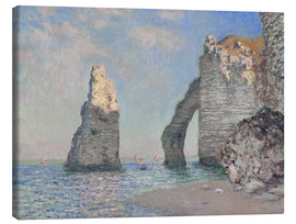 Canvas  The rock face of Aval - Claude Monet