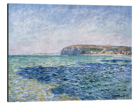 Alu-Dibond  shadows on the sea at Pourville - Claude Monet